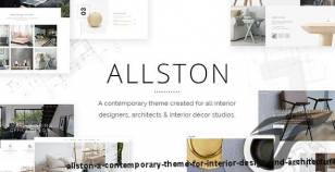 Allston - A Contemporary Theme for Interior Design and Architecture By elated-themes