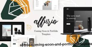 Allurio - Coming Soon and Portfolio Template By mix_design