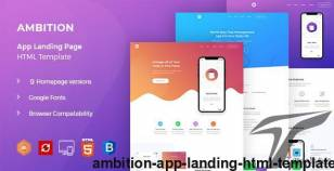 Ambition - App Landing HTML Template By yogsthemes
