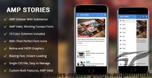 AMP Stories | Mobile Google AMP Template