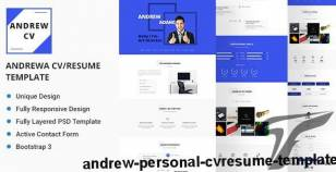 Andrew Personal CV/Resume Template By deviserweb