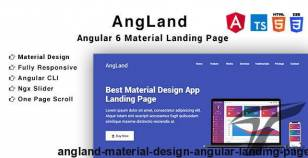 Angland - Material Design Angular Landing Page By trendsetterthemes