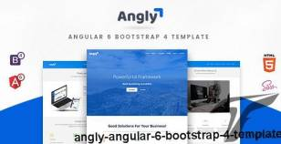 Angly - Angular 6 Bootstrap 4 Template By ironnetwork