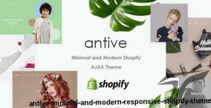 Antive - Minimal and Modern Responsive Shopify Theme By fami_themes