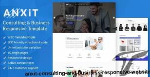 Anxit – Consulting And Business Responsive Website By tidytheme