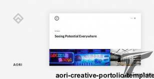 Aori - Creative Portolio Template By layerz