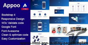 Appoo - HTML App Landing Page, Template By envatoprime