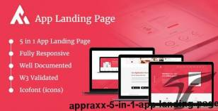 AppRaxx - 5 in 1 App Landing Page By envalab
