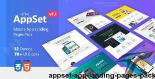 AppSet - App Landing Pages Pack By dsathemes