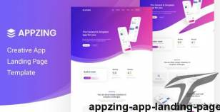 Appzing - App Landing Page By pixelcurve