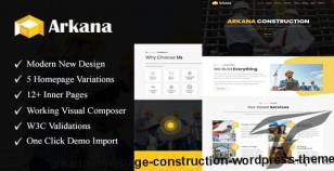 Arkana - One Page Construction WordPress Theme By ozariya