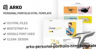 Arko - Personal Portfolio HTML Template By mk360_themes