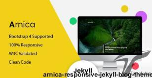 Arnica - Responsive Jekyll Blog Theme By themeix