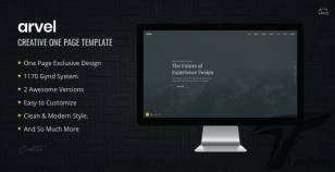 ARVEL | Creative One Page Template By solien