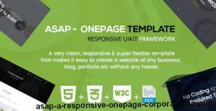 Asap - A Responsive Onepage Corporate Template By thecodrops