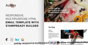 Audrey – Responsive Multipurpose Email Template + Stampready Builder