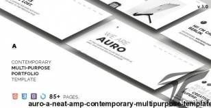 Auro — A Neat & Contemporary Multi-Purpose Template By fourtabsthemes