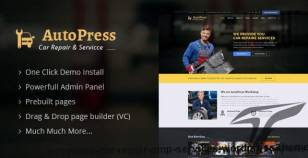 AutoPress - Car Repair & Services WordPress Theme By designarc