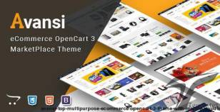 Avansi - Top Multipurpose eCommerce OpenCart 3 Theme With Mobile Layouts