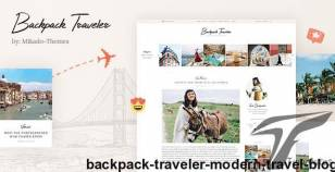Backpack Traveler - Modern Travel Blog By mikado-themes