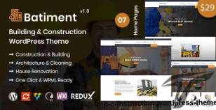 Batiment - Building & Construction WordPress Theme By rs-theme