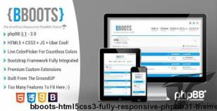 BBOOTS - HTML5/CSS3 Fully Responsive phpBB3.1 Theme By themesplat