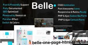 Belle - One Page HTML Template By marwaelmanawy