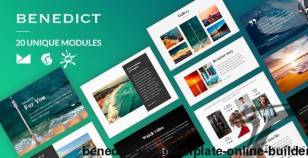 Benedict Email-Template + Online Builder By liveautograph