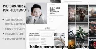 Betiso - Personal Portfolio Template By plainthing-studio