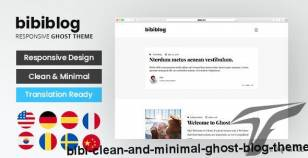 Bibi - Clean and Minimal Ghost Blog Theme By themeix_lab