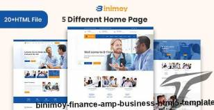Binimoy - Finance & Business HTML5  Template By thethemepond