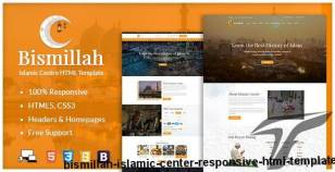Bismillah - Islamic Center Responsive HTML Template By nauthemes