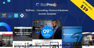 BiziPress - Consulting, Finance & Business Joomla Template By tripples