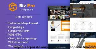BizPro || Corporate & Business Responsive Template By escotheme