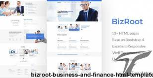 BizRoot - Business and Finance HTML Template By unlockdesign