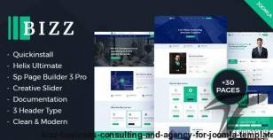 Bizz - Business Consulting and Agency for Joomla template By payothemes