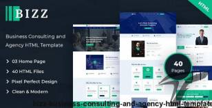 Bizz - Business Consulting and Agency HTML Template By vs_themes