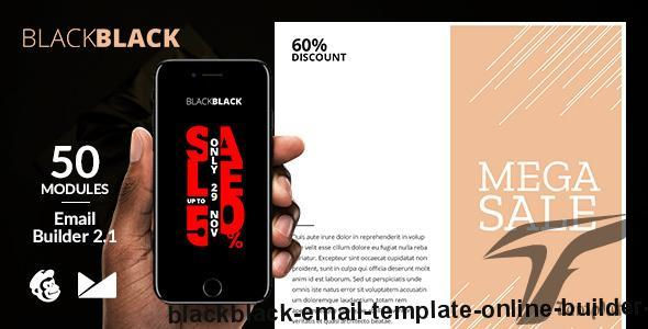 BlackBlack Email Template + Online Builder 2.1 By web4pro