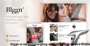 Blggn - A Responsive Blog & Shop WordPress Theme By vossendesign