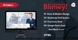 Blimey! - Single Page Corporate HTML5 Template By everesttheme