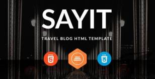Blog | SayIT Travel Blog HTML for Blog Site By pixel-mafia