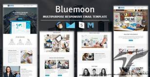 Bluemoon - Multipurpose Responsive Email Template With Stampready Builder & Mailchimp Access By guiwidgets