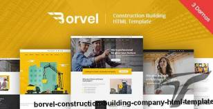 Borvel - Construction Building Company HTML Template By themearc