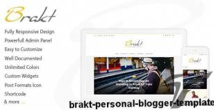 Brakt - Personal Blogger Template By mix-theme