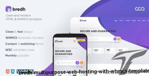 Bredh - Multipurpose Web Hosting with WHMCS Template By coodiv