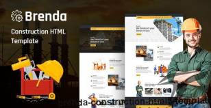 Brenda – Construction HTML5 Template By codecarnival