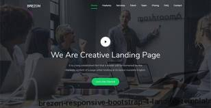 Brezon - Responsive Bootstrap 4 Landing Template By themesboss