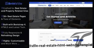 BrittVille - Real Estate HTML Website Template By uideck