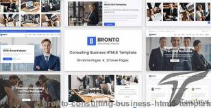 Bronto - Consulting Business HTML5 Template By nouregy