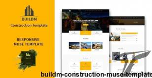 Buildm - Construction Muse Template By musestack
